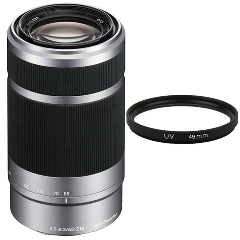 Sony E 55-210mm f/4.5-6.3 OSS Lens Silver For Sony E-Mount Cameras