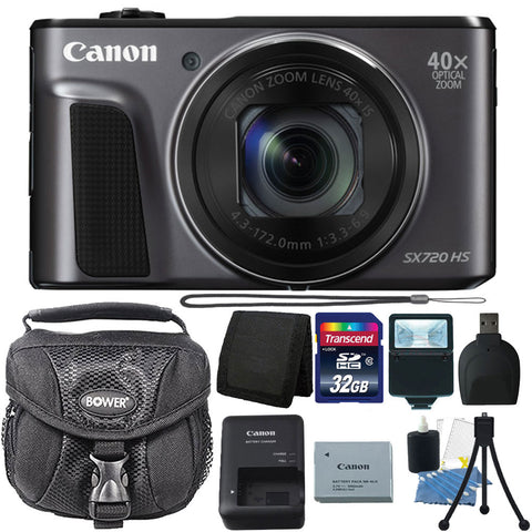 Canon PowerShot SX720 HS 20.3MP Digital Camera 40x Optical Zoom Black with Accessory Bundle