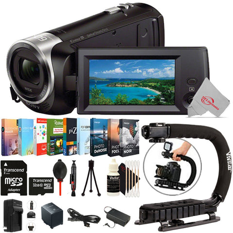 Sony HDR-CX405 HD Handycam Camcorder with 32GB Top Accessory Kit