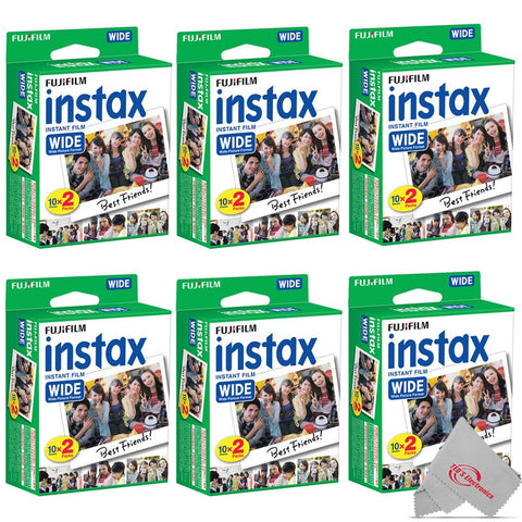 FUJIFILM INSTAX Wide Instant Film (20 Exposures) 6 Pack