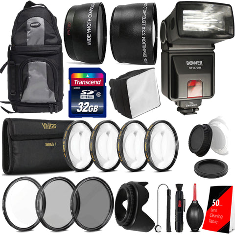 i-TTL Flash with Ultimate Accessories For Nikon D5600 , D7100 and D7200