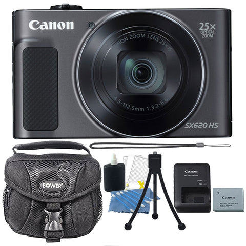 Canon PowerShot SX620 HS 20.2MP Digital Camera (Black) and Ultimate Accessory Kit