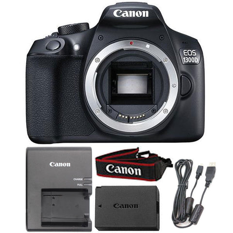 Canon EOS 1300D / T6 18MP Digital SLR Camera Body (Black)