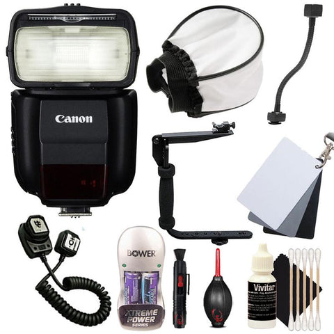 Canon Speedlite 430EX iii-RT Flash with Accessory Kit for Canon 77D , 80D , 760D and 1300D