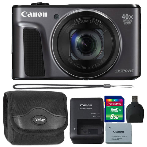 Canon PowerShot SX720 20.3MP Digital Camera Black with Accessory Kit