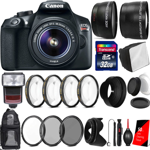 Canon EOS Rebel T6 18MP Digtal SLR Camera with 18-55mm IS STM Lens , TTL Speedlite Flash and Accessory Bundle