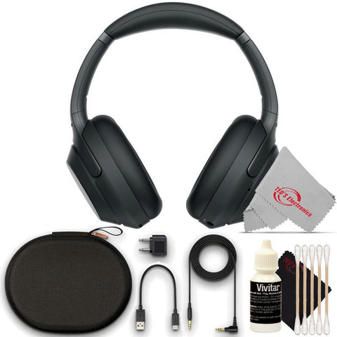 Sony WH-1000XM3 Wireless Noise-Canceling Over-Ear with  Alexa Voice Headphones Bundle (Black)