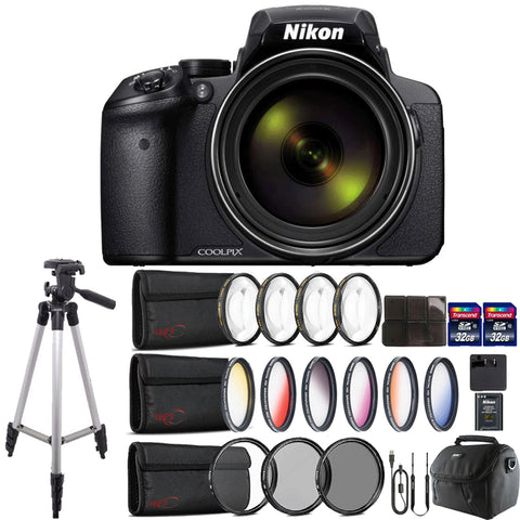 Nikon COOLPIX P900 Digital Camera with 83x Optical , WiFi enabled and Accessory Kit
