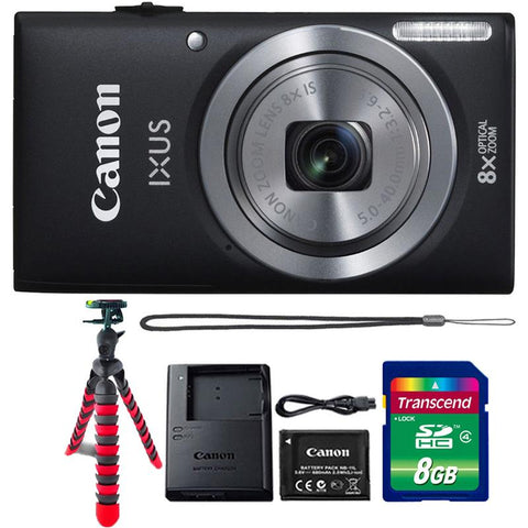 Canon IXUS 185 / ELPH 180 20MP Digital Camera Black with 8GB Memory Card