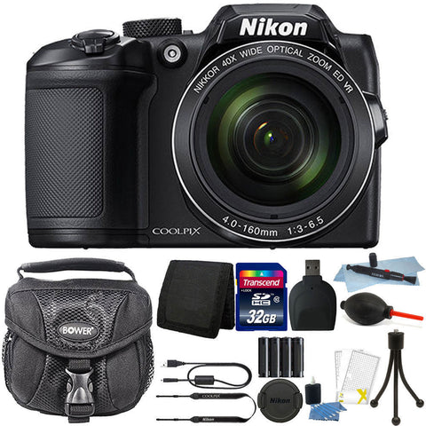 Nikon Coolpix B500 16MP Digital Camera Black with Accessories
