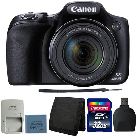 Canon PowerShot SX530 HS Digital Camera with Ultimate Accessory Kit