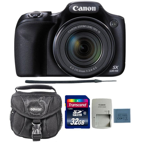 Canon PowerShot SX530 HS 16MP Digital Camera with 32GB Memory Card and Camera Case