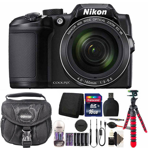 Nikon Coolpix B500 16MP 40x Optical Zoom Digital Camera Black with Accessory Bundle