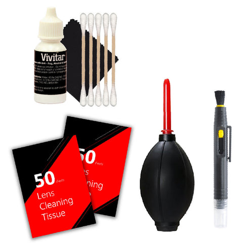 Vivitar 100 Lens Tissue Sheet with Deluxe Accessory Kit