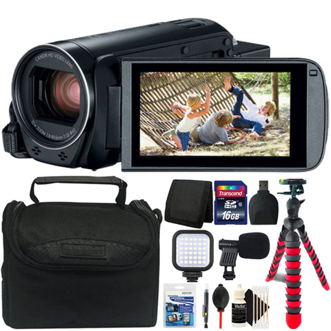 Canon Vixia HF R800 Camcorder Black with 16GB Accessory Kit
