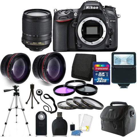 Nikon D7100 DSLR Camera with 18-105mm Lens and Accessory Kit