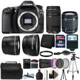 Canon EOS Rebel 80D 24.2MP Wifi / NFC DSLR Camera with EF-S 18-55mm IS STM Lens + EF 75-300mm Lens with Top Value Accessory Bundle