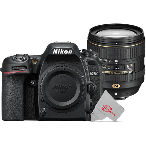 Nikon D7500 20.9MP Digital SLR Camera with Nikon AF-S DX NIKKOR 16-80mm f/2.8-4E ED VR Lens