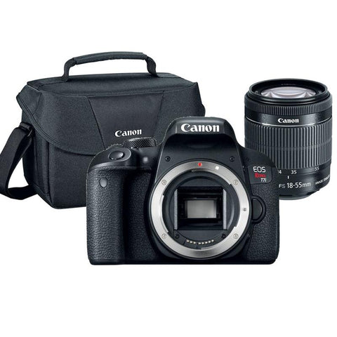 Canon EOS Rebel T7i 24.2MP DSLR Camera with 18-55mm Lens and Canon 100ES Case