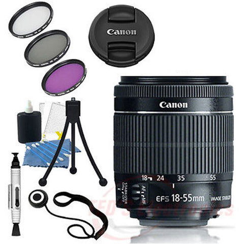 Canon EF-S 18-55mm STM Lens for Canon SLR Camera + Lens Pen, Starter Kit & More