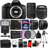 Canon EOS Rebel T6 18MP Built-In WIFI Digital SLR Camera with 18-55mm Lens , 75-300mm Lens and Accessories