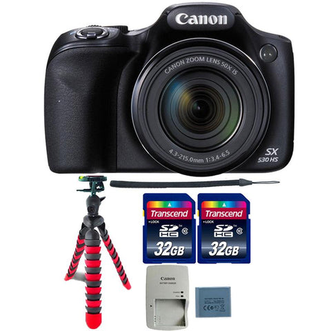 Canon PowerShot SX530 HS 16MP Digital Camera with Top Accessory Kit