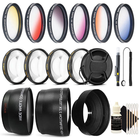 58mm Color Filters with Accessory Kit for Canon Rebel T3i, T4, T4i, T5i, T6,T6s and T6i