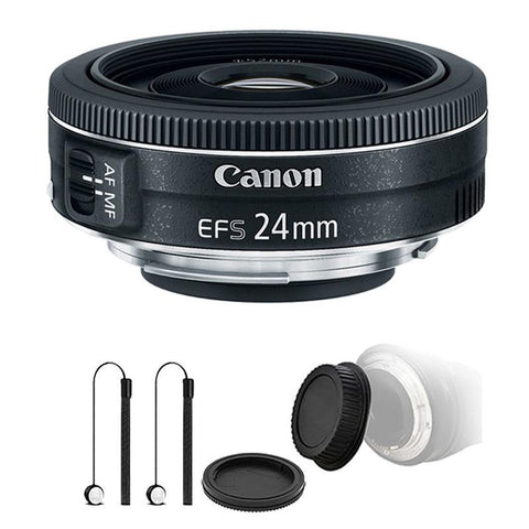 Canon EF-S 24mm f/2.8 STM Lens with Accessories for Canon EOS Rebel T5 , T5i , T6 , T6i and T7i