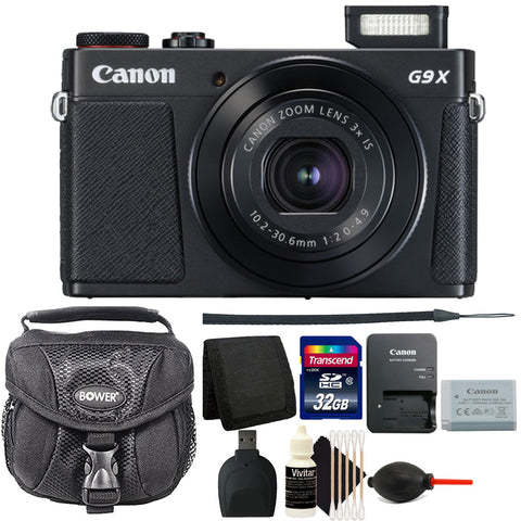 Canon PowerShot G9X Mark II Digital Camera 3x Optical Zoom Black with Accessory Kit