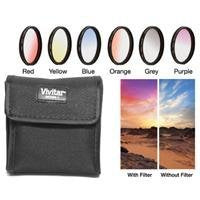 Vivitar 6 Piece 52mm Graduated Color Filter Set with Case