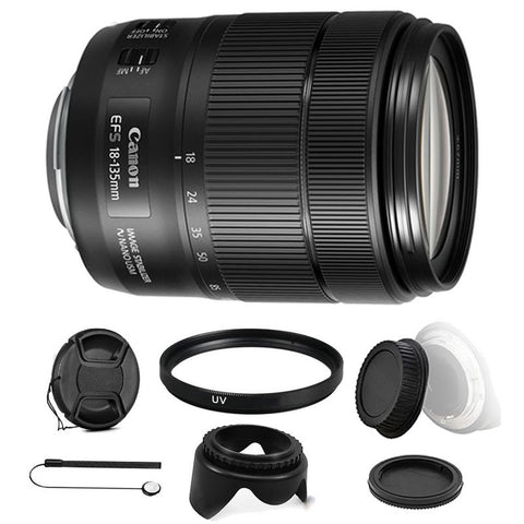 Canon EF-S 18-135mm f/3.5-5.6 IS NANO USM Lens with Accessory Kit For Canon DSLR Cameras