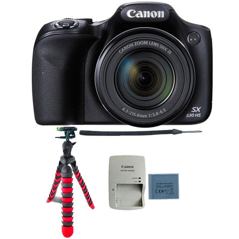 Canon PowerShot SX530 HS Digital Camera with Flexible Tripod