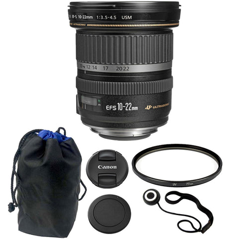 Canon EF-S 10-22mm f/3.5-4.5 USM Lens Kit for Canon DSLR Camera