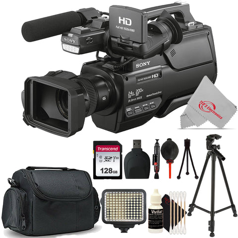 Sony HXR-MC2500E Shoulder Mount AVCHD 12X Optical Zoom Camcorder PAL + Essential Accessory Kit