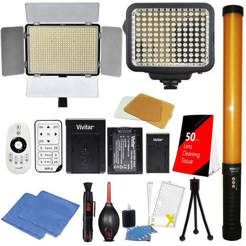 Vivitar 600 , 298 and 120 LED Light with Accessory Kit