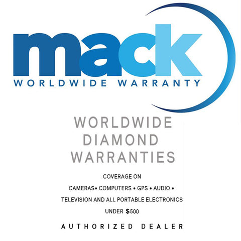 Mack 2 or 3 Year Worldwide Diamond Warranty for Portable Electronics Under $500 Covers Accidental Damage and Manufacturer Defects Parts and Labor