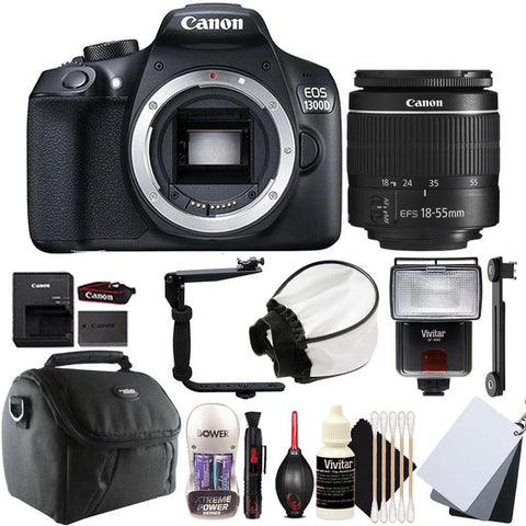 Canon EOS 1300D / Rebel T6 DSLR Camera with 18-55mm Lens and Accessory Kit