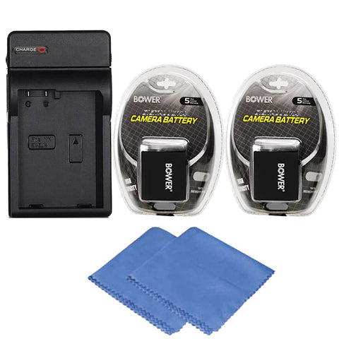 2 LP-E10 Replacement Battery with Accessories for Canon EOS Rebel T3, T5 and T6