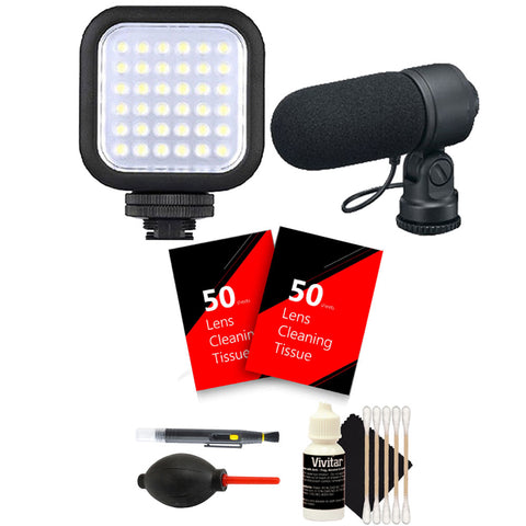 LED Light with Accessory Kit for Canon T5 , T5i , T6 , T6s and T6i