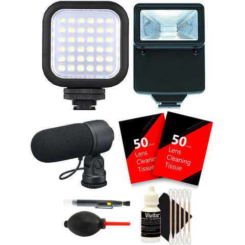 Compact LED Light with Accessory Kit for Canon EOS Rebel T6i , T6 , T6s , T5i and T5