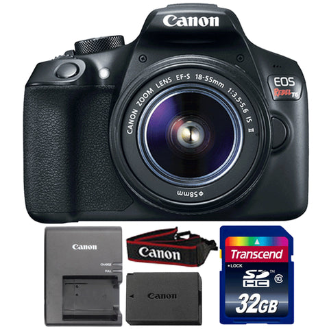 Canon Eos Rebel T6 Digital Slr Camera With 18 55mm Lens And