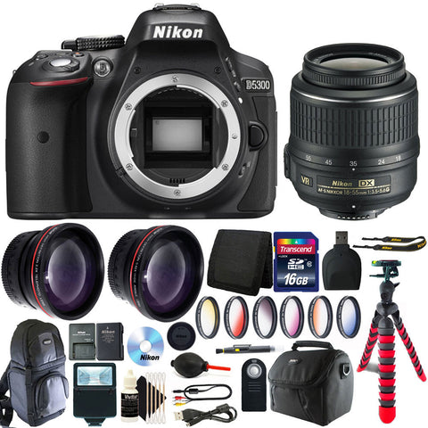 Nikon D5300 Bundle - Filters, Tripods, Case and So Much More!