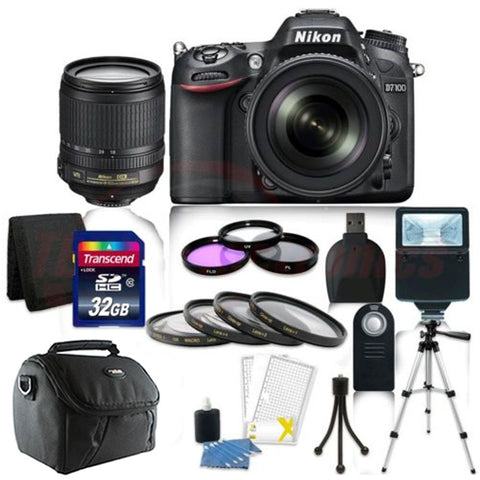Nikon D7100 Digital SLR Camera with 18-105mm Lens and Accessory Kit