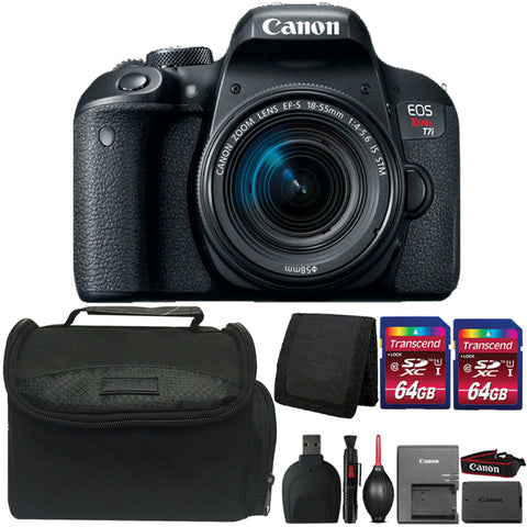 Canon EOS Rebel T7i Digital SLR Camera with 18-55mm Lens and Accessories