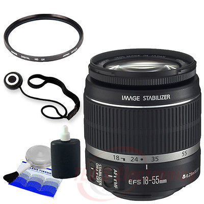 Canon EF-S 18-55mm f/3.5-5.6 IS II SLR Lens + 58mm UV Filter, Clean Kit and More