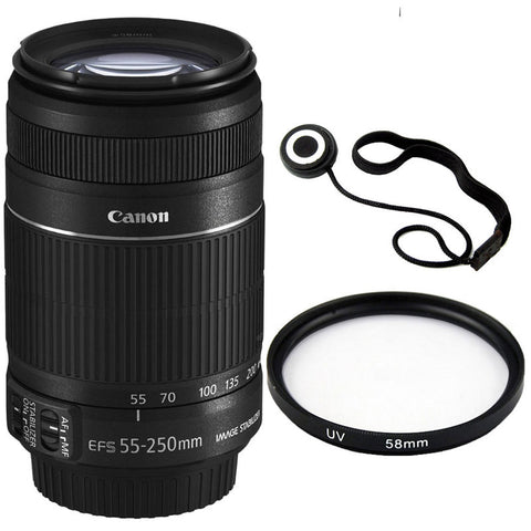 Canon EF-S 55-250mm f/4-5.6 IS II For Canon Digital SLR Cameras T5 T6 T6i Kit