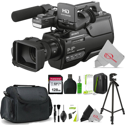 Sony HXR-MC2500E Shoulder Mount AVCHD 12X Optical Zoom Camcorder PAL + Cleaning Accessory Kit