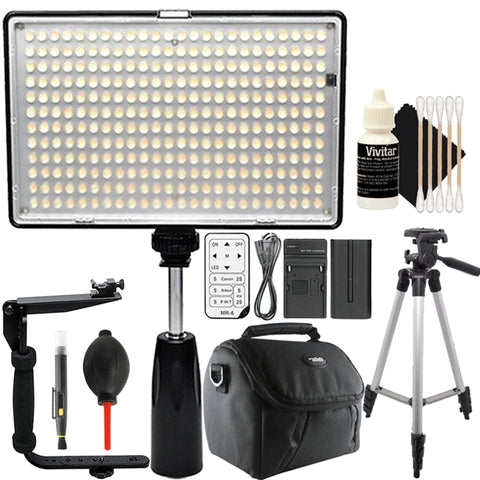 288 LED Video Light with Accessory Kit
