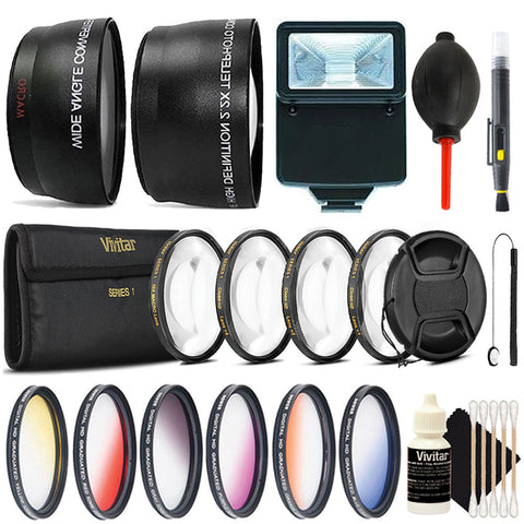 58mm Macro Kit with Color Filter Top Lens Accessory Kit for Canon T6i, T6, T6s, T5i, T5 and All Canon DSLR Cameras