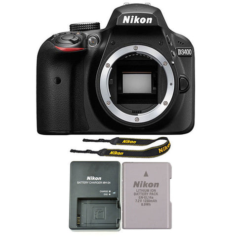 Nikon D3400 24.2MP Digital SLR Camera Body Black